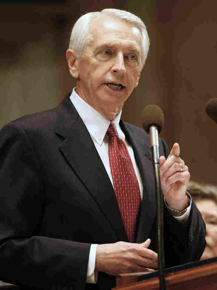 Kentucky Gov. Steve Beshear delivers his fourth State of the Commonwealth address to a joint session of the General Assembly in Frankfort, Ky., on Feb. 1. Beshear announced in December that he supports plans for a Christian theme park because it would create about 900 jobs.