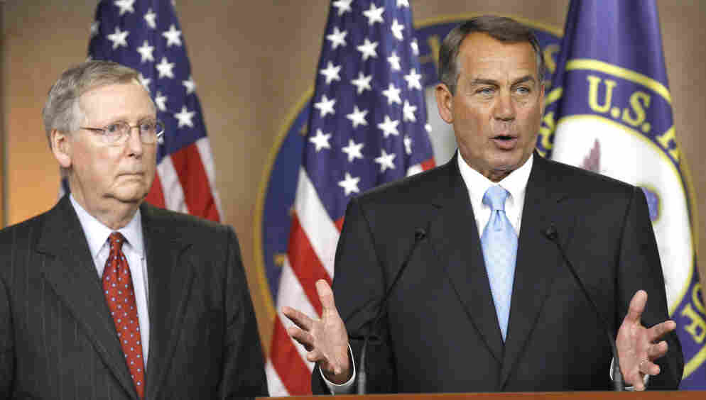 Speaker John Boehner with Senate Minority Leader Mitch McConnell, Wednesday, March 2, 2011.