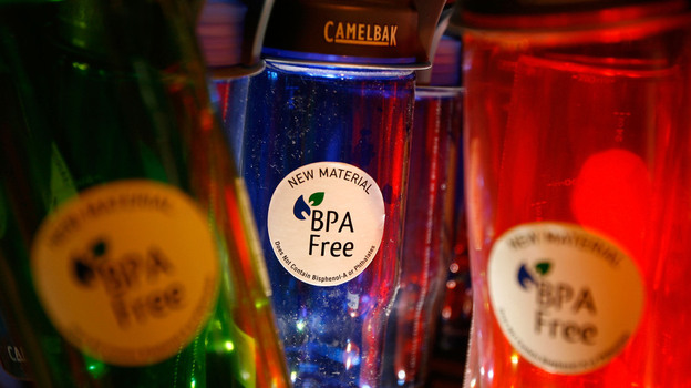 Makers of water bottles, including Camelback, now sell products that don't contain BPA, a chemical that can mimic the sex hormone estrogen. But a new study says that even if they don't contain BPA, most plastic products release estrogenic chemicals. (Getty Images)