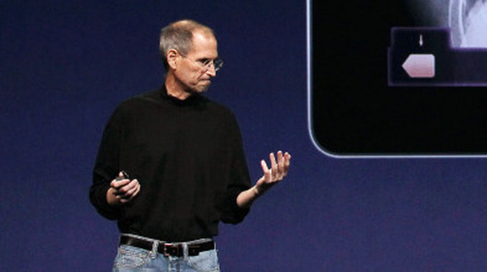 Apple S Steve Jobs Hits Stage For Release Of New Ipad