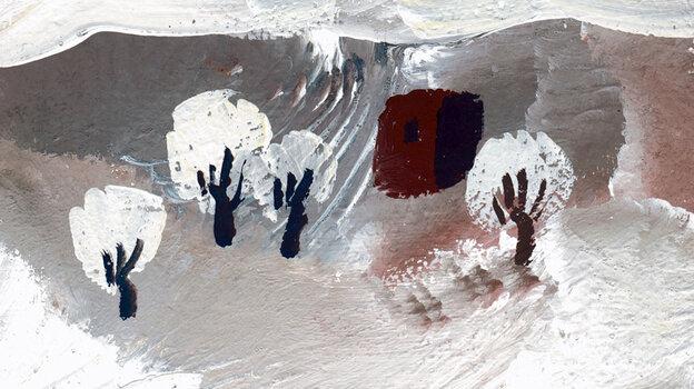 Tengiz Mirzashvili's winter landscape is the cover art for Giya Kancheli's Themes From The Songbook.