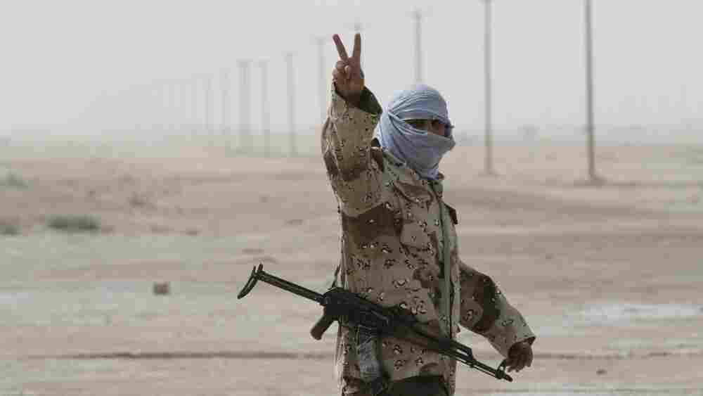 A Libyan rebel in Ajdabiya on Wednesday.