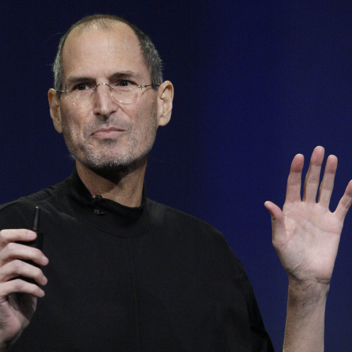 Apple Inc. Chairman and CEO Steve Jobs speaks at an event in San Francisco, Wednesday.