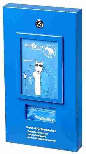 Berlin dog owners used 4 million bags last year from these dispensers to clean up after their  dogs.