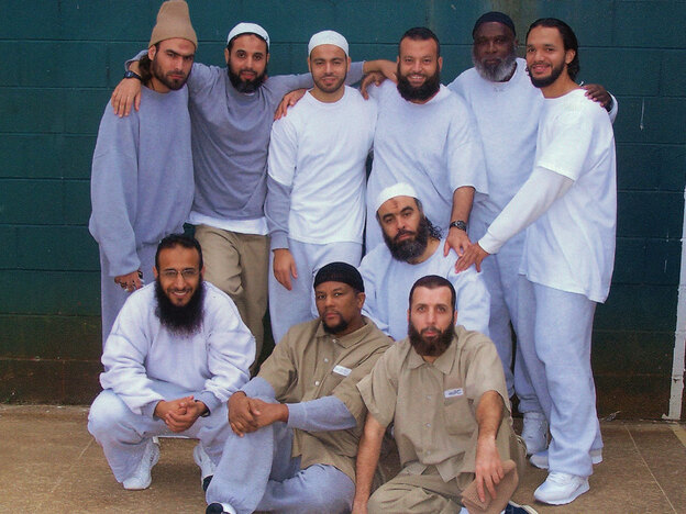 This photo of inmates from the Communications Management Unit in Terre Haute was taken in 2007. Among those pictured are (left to right, bottom row) Ibrahim al-Hamdi, Avon Twitty, Enaam Arnaout.
