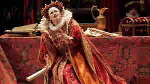 Queen Elizabeth (soprano Carmela Remigio) tries to use her power to gain love — with  disastrous consequences.