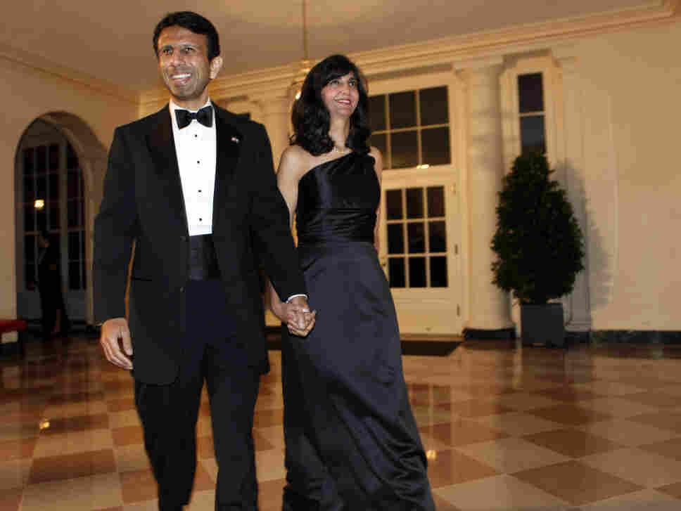 Louisiana Gov. Bobby Jindal and his wife Supriya Jindal at the White House, Nov. 24, 2009.