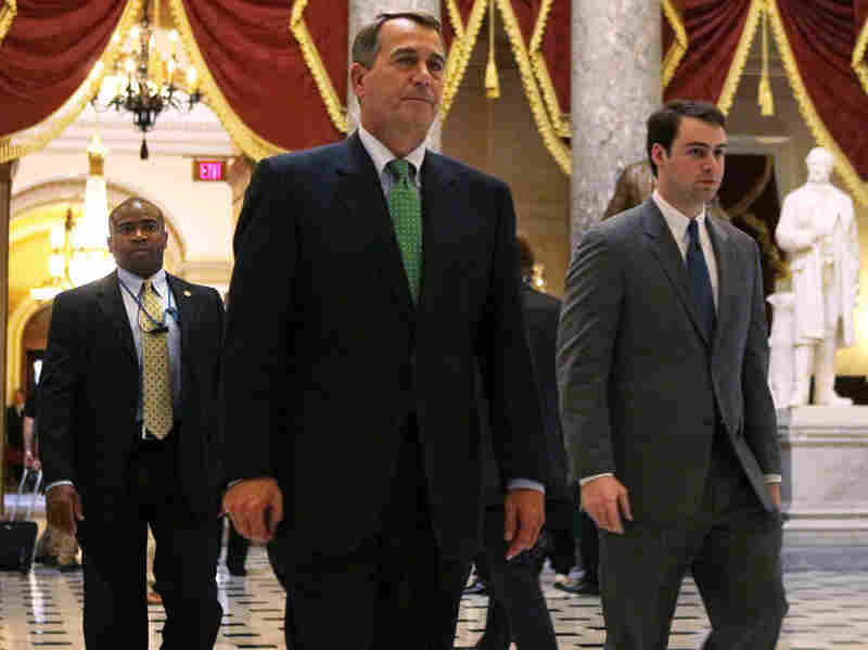 Speaker of the House John Boehner (R-OH) returns to his office from the House chamber after votes Feb. 18 on Capitol Hill. The House was debating the continuing resolution (HR 1) that contained Republican-proposed deep cuts in the budget.
