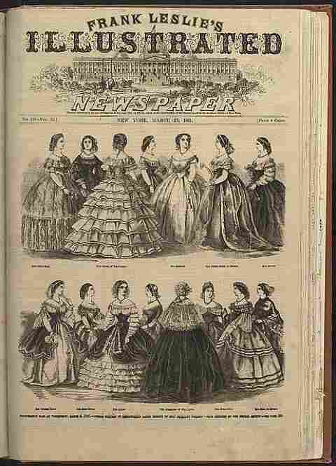 Distinguished ladies wore these dresses to the 1861 inaugural ball in Washington D.C.