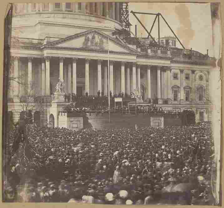 The inauguration of President Abraham Lincoln at the U.S. Capitol, March 4, 1861.