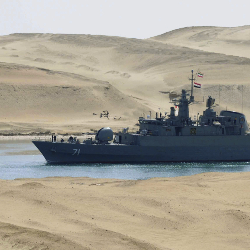 Iran recently sent warships to Syria through the Suez Canal -- just a friendly visit, they said.