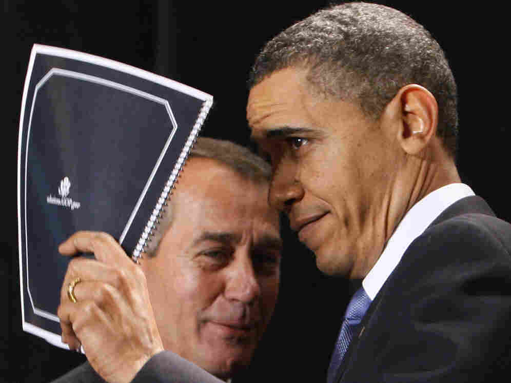 President Barack Obama and Speaker John Boehner in January 2010 before the congressman ascended to his current post.