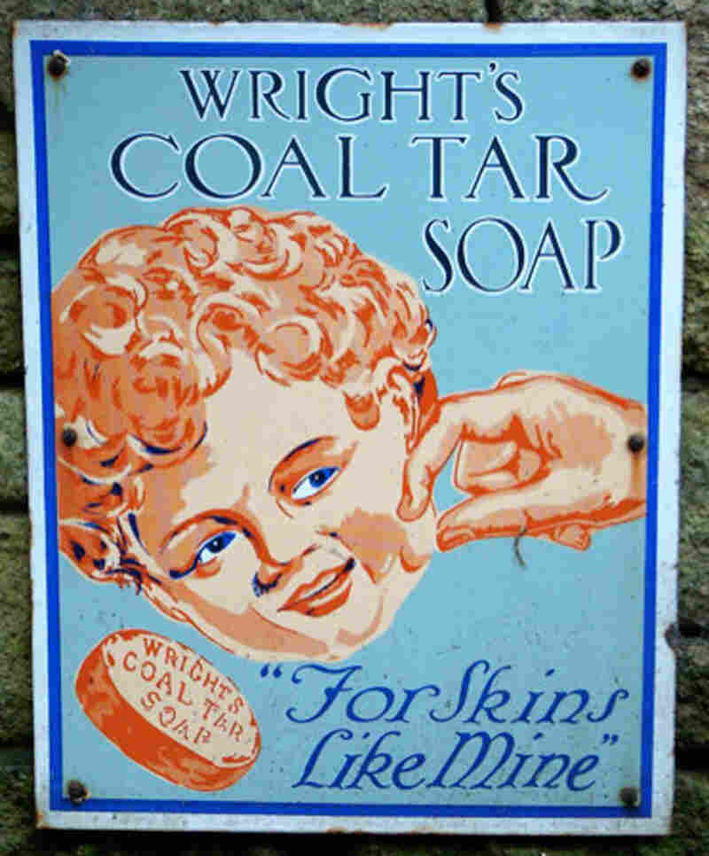 An advertising poster for Wright's Coal Tar Soap.