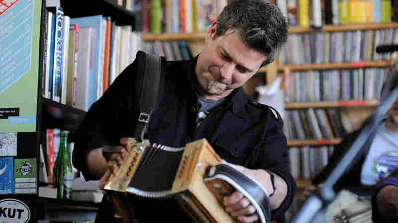 Steve Riley and the Mamou Playboys perform a Tiny Desk Concert at the NPR Music offices.