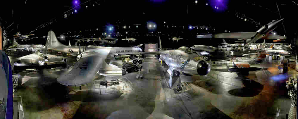 Cold War-era planes on display at the National Museum of the U.S. Air Force, near Dayton, Ohio.  The museum is one of many in the country vying to display one of NASA's retiring space shuttles.