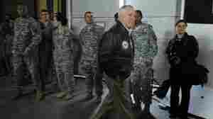Defense Secretary Robert Gates at Bagram Air Field in Afghanistan.
