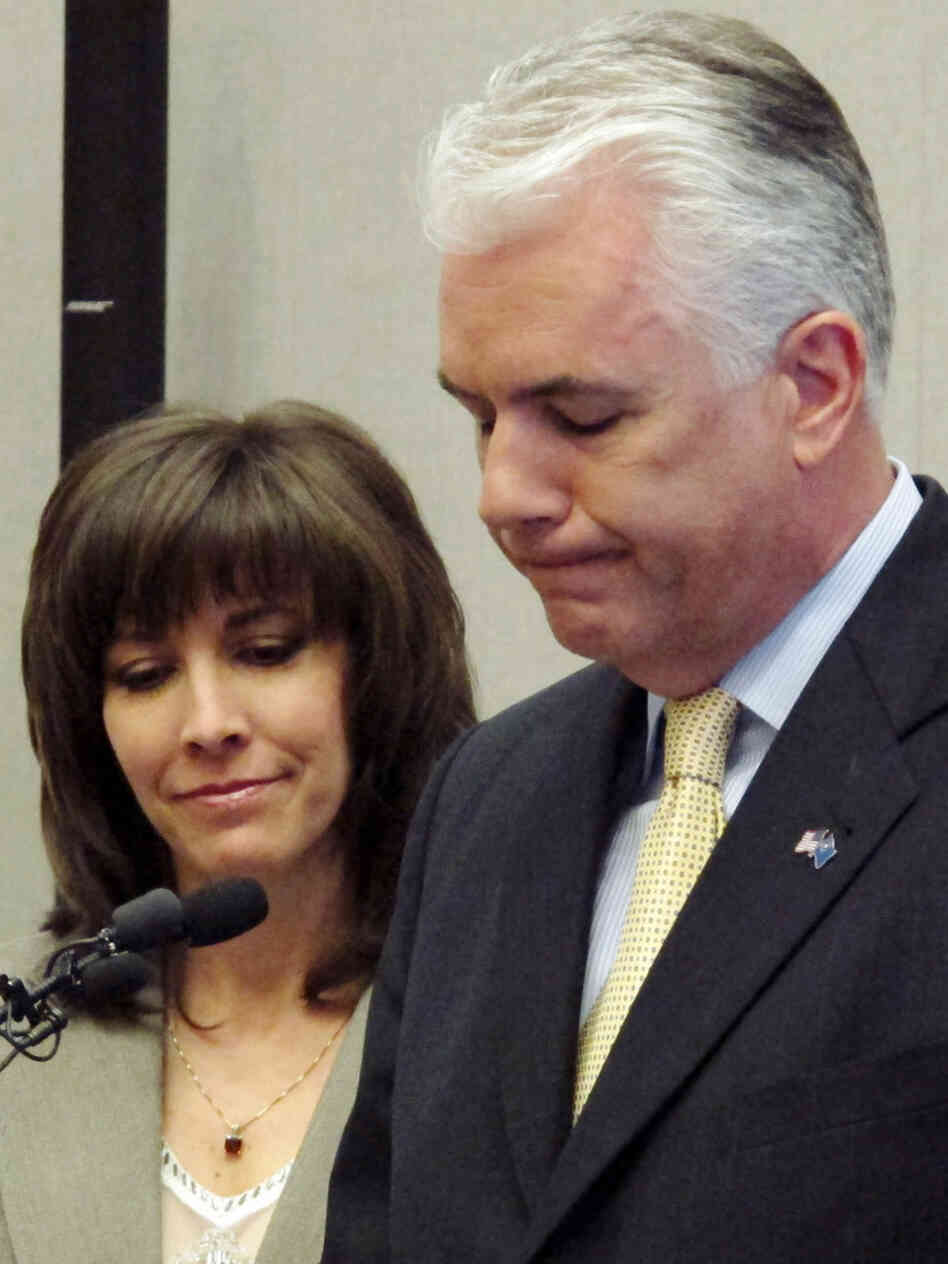 U.S. Sen John Ensign, with wife Darlene, March 7, 2011.