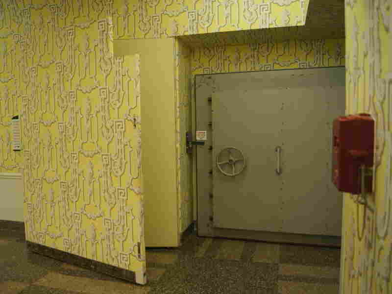 In the Greenbrier's public exhibition hall, a not-so-secret entrance leads to the bunker.