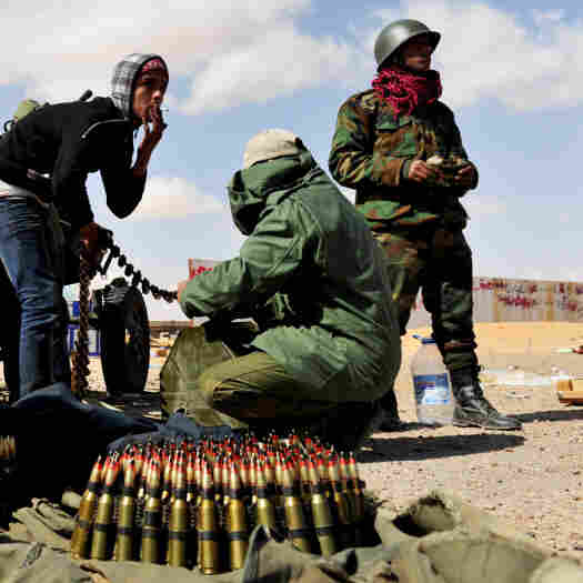 Libyan Forces Batter Rebels On Two Fronts
