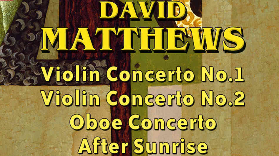 Album artwork for David Matthews' new CD of concertos.