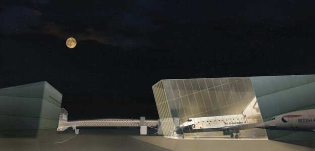 Seattle's Museum of Flight has already begun construction on its new Space Gallery, seen here in an architect's rendering, to put a shuttle on permanent display. NASA hasn't yet said where the shuttles will go once they're retired.