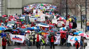 Tenn. Teachers Battle Against Union Bills