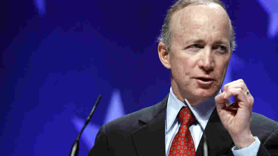 Indiana Gov Mitch Daniels speaks last month at the Conservative Political Action Conference in Washington. The speech has been called the most intellectually compelling conservative call to arms in years.