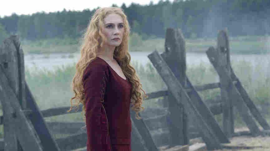 Red 'Death': Carice van Houten plays the fiercely anti-church leader of a remote English village in Black Plague, a stylish splatter-horror exercise done up in 14th century drag.