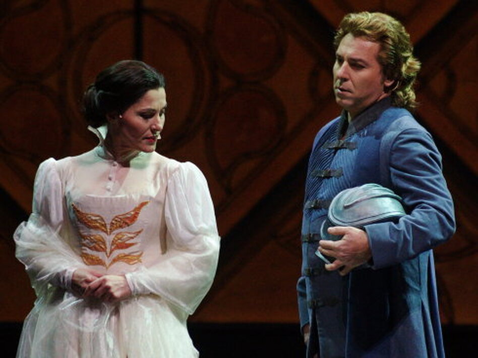 Francesca (Svetla Vassileva) is tricked into marrying an odious older man, but she still harbors feelings for his brother Paulo (Roberto Alagna).