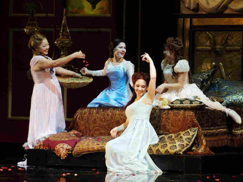 In Act III, Francesca entertains her ladies-in-waiting with the story of Lancelot and Guinevere.