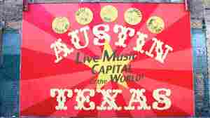 A sign in Austin on the first day of the music portion of SXSW in 2010.