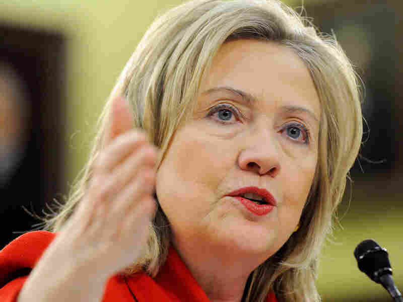 Secretary of State Hillary Clinton, shown on Capitol Hill on Thursday, is heading to Egypt and Tunisia as the U.S. tries to stay on top of what's happening in the Arab world.