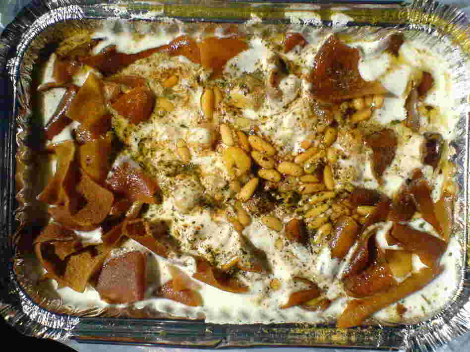 Abu Hadi's Fattet Hummus, or Chickpea Fatteh, from Day of Honey.