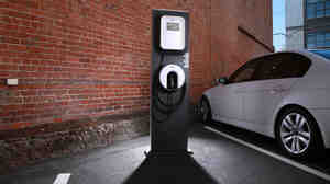 Frog Design and ECOtality created the Blink family of recharging stations for the Chevy Volt,  Nissan Leaf and other electric vehicles.
