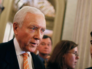 Sen. Orrin Hatch (R-UT), seen at the U.S. Capitol, wants the states to be in the driver's seat on health policy.