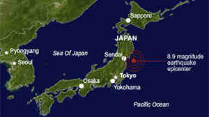 Earthquake Rattles Japan's Eastern Coast