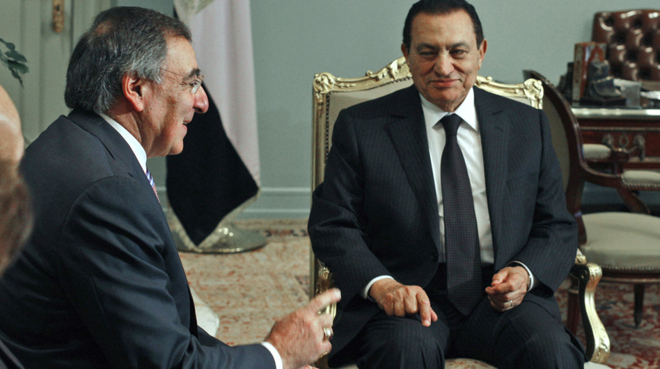 Then-Egyptian President Hosni Mubarak met with CIA Director Leon Panetta at the presidential palace in Cairo in January 2010. For years, the CIA knew the main players in Egypt. Now, the map of Egypt's power structure must be redrawn.
