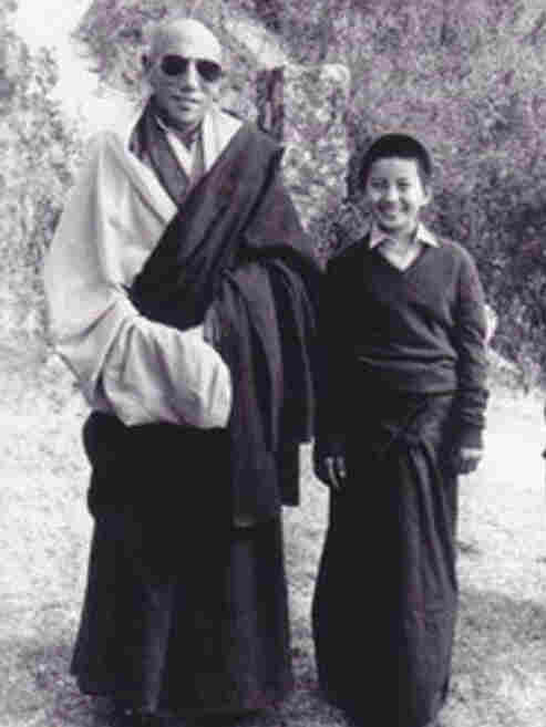 A young Ani Choying Drolma photographed near the Nagi Gompa monestary in the  foothills of Kathmandu.