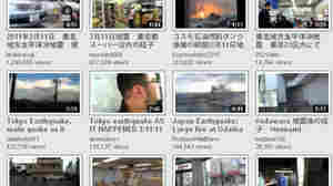 A screen grab shows CitizenTube's collection of videos from the earthquake and Tsunami in Japan.