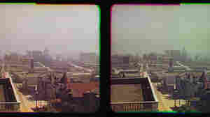 Stereo photographs, called Kromograms, show the earthquake-damaged San Francisco of 1906. They are thought to be the first color photographs from one of the worst natural disasters in U.S. history.