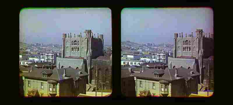 Another view from the top of the Majestic Hotel. According to the Smithsonian Institution, Ives patented the color method used in these images in the early 1890s, and later marketed the process known as the Photochromoscope system.