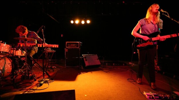 Andy Stack and Jenn Wasner of Wye Oak perform at The Black Cat in Washington, D.C. on March 11.