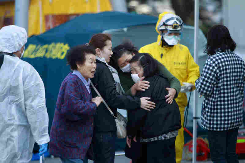 Residents are being evacuated and checked for radiation from areas surrounding the damaged Fukushima nuclear facilities, in Japan's Fukushima prefecture.
