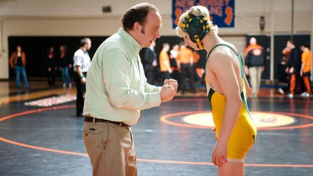 Grappling for advantage: A flailing lawyer (Paul Giamatti) and a high-school wrestler both look for answers in Win Win, a drama that's full of both interestingly knotty problems and too-easy answers.