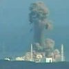A screen grab taken from news footage by Japanese public broadcaster NHK shows the moment of a hydrogen explosion at the Fukushima Daiichi nuclear power station's No. 3 reactor Monday.
