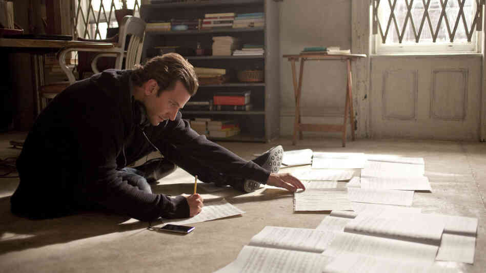 "Subito Accelerando: After taking an experimental ""smart drug,"" Eddie Morra (Bradley Cooper) becomes a bona-fide genius, able to finish a long-stalled novel, learn new languages — even compose music."