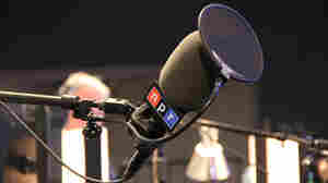 A microphone is ready for broadcast on Election Day in November 2010 at NPR headquarters in Washington, D.C.