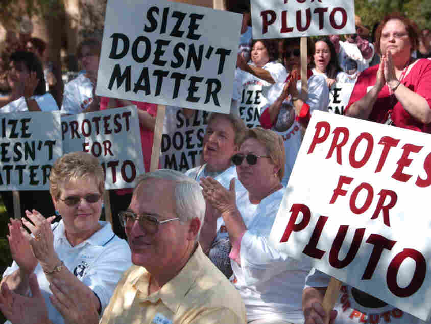 After Pluto was de-planetized in 2006, defenders rallied at New Mexico State University, in Las Cruces, N.M.