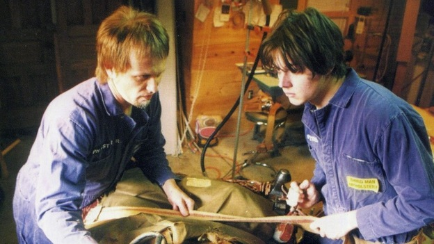 """Brian Muldoon and Jack White (right) of The Upholsterers on the cover of the Makers of High Grade Suites 7"""". (Courtesy of the artist)"""