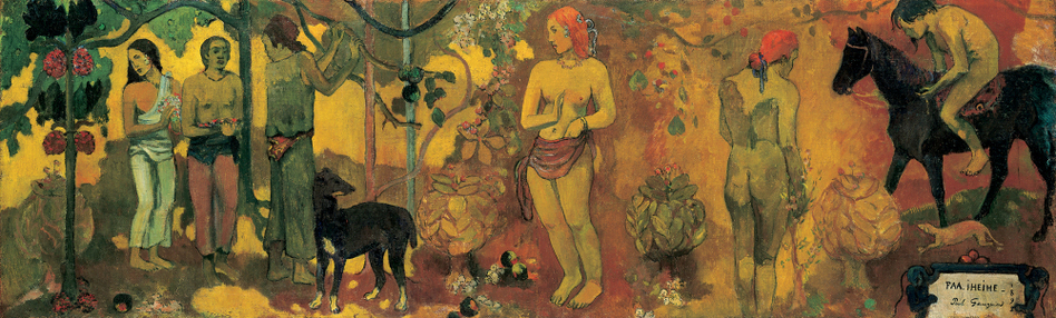 'Maker Of Myth': A new exhibit at the National Gallery explores how French post-Impressionist Paul Gauguin didn't let reality stop him from painting the primitive island culture he'd hoped to find in Tahiti — but didn't. Above, Gauguin's 1898 painting, Faa Iheihe, or, To Make Beautiful. (Tate, London)